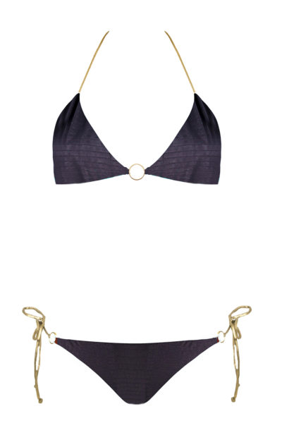 bikini beliza CLAUDIA triangle noir croco