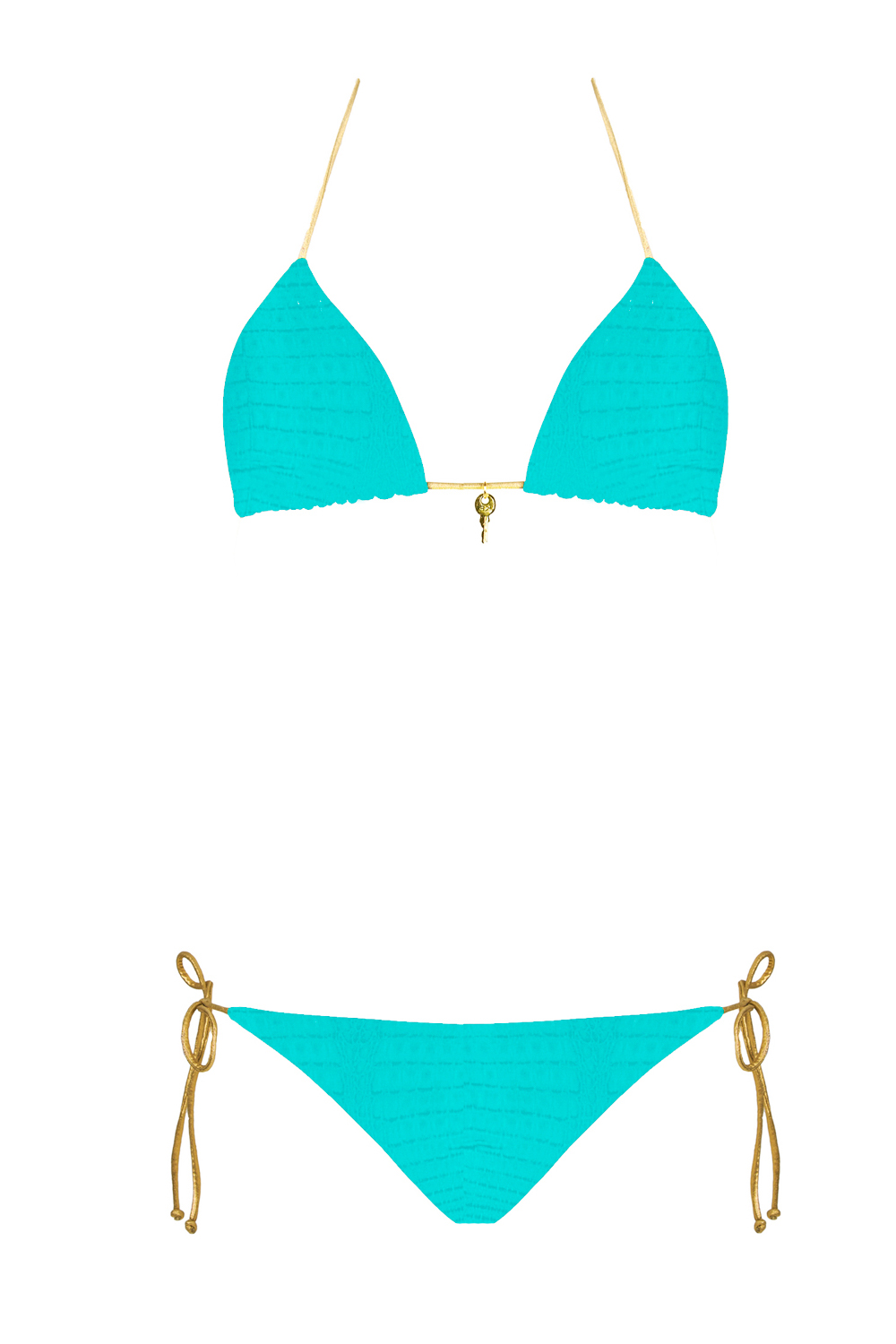 bikini beliza KATE triangle bleu croco