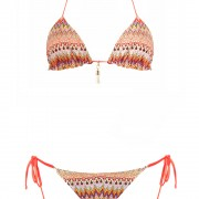 bikini beliza KATE triangle réversible orange aztek