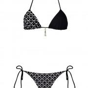 bikini beliza KATE triangle motif grafik à pompom