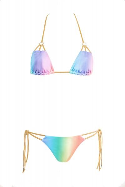 Bikini Beliza KATIA bikini triangle ficelles arc en ciel