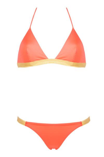 bikini beliza LISA bikini triangle orange doré