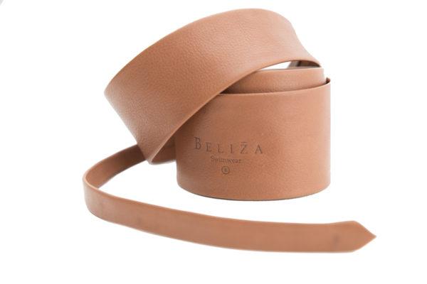 Long Belt Leather 80'S Sand