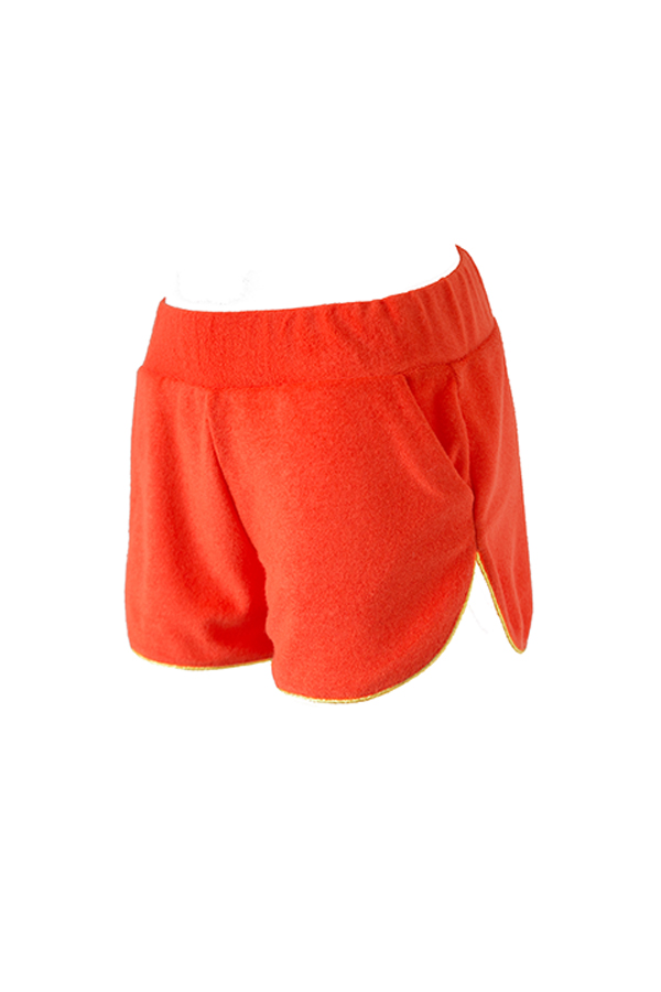 BELIZA-SHORT-ENOLA-ORANGE -EPONGE