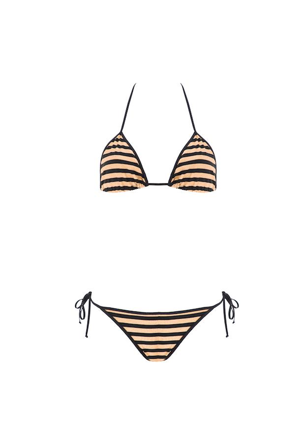 Audrey réversible bi-coulor Black&Gold Stripes / Black