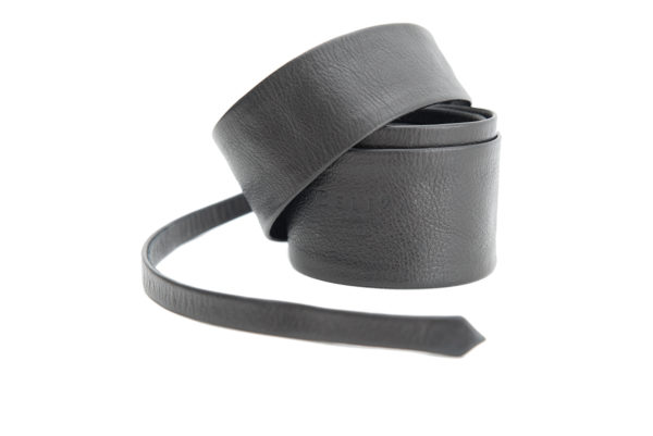 Long Belt Leather 80'S Black