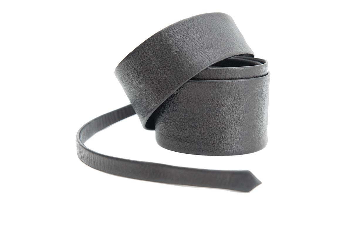 Long Belt Leather 80'S Black