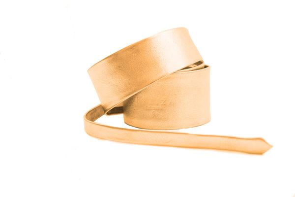 Long Belt Leather 80'S Gold