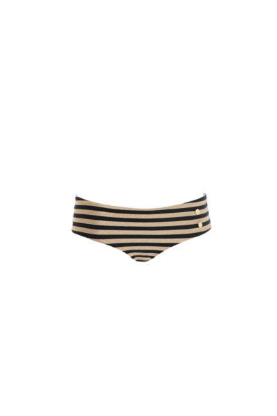 Shorty Sabine Black & Gold Stripes