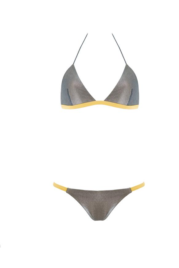 Two pieces triangle bikini Beliza Lisa Shark Silver & Gold