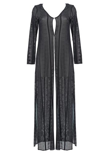 Beachwear Beliza Anita Long Dress Crochet Black