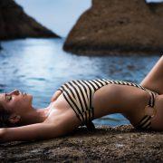 Monica Black&Gold Stripes