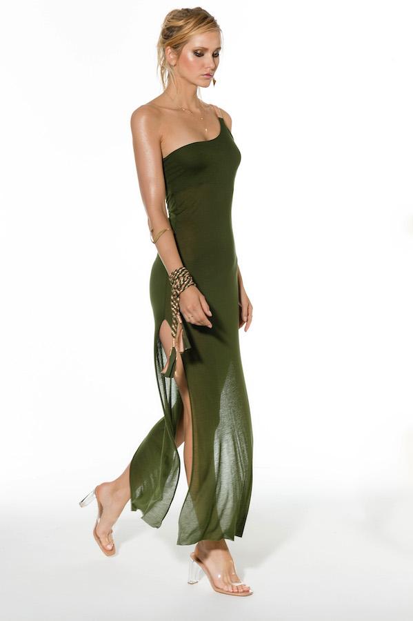 robe de plage kaki