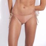 maillot de bain 2 pièces triangle en lurex poudré et pailleté kate réversible