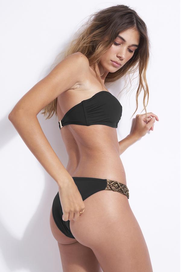 haut de maillot de bain 2 pièces bandeau avec armatures Nina black