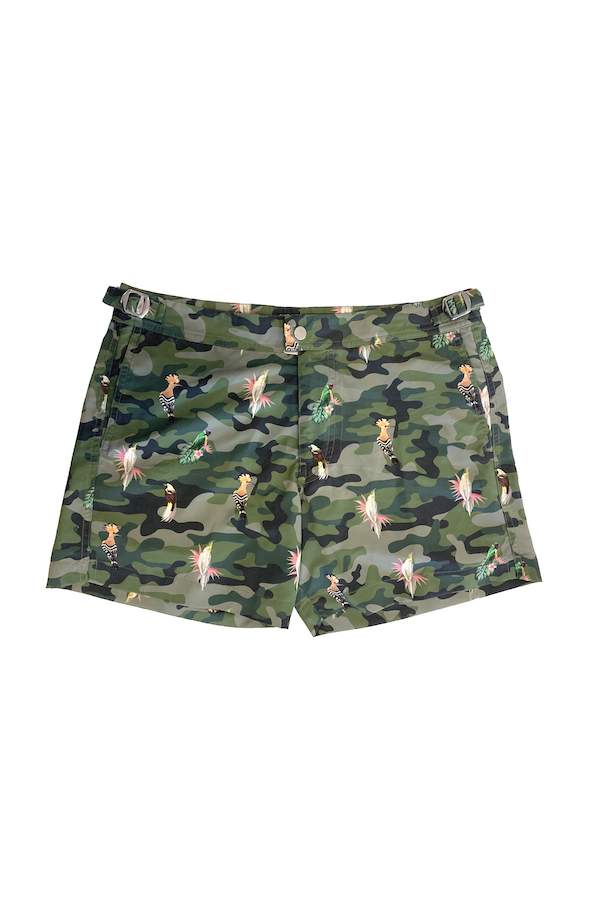 short de bain court homme original military bird beliza